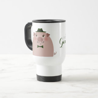 Caneca Térmica Elegante perfeito do cavalheiro engraçado do porco