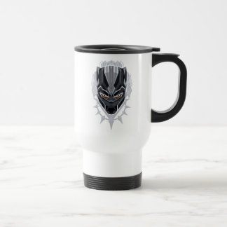 Caneca Térmica Emblema da cabeça da pantera preta de pantera