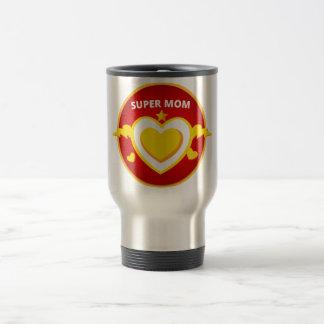 Caneca Térmica Emblema engraçado da mamã do flash do super-herói