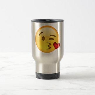 Caneca Térmica Emoji - beijo de jogo