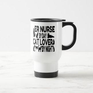 Caneca Térmica Enfermeira do ER do amante do gato