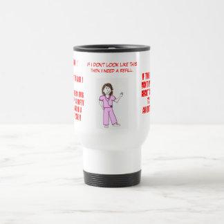 Caneca Térmica Enfermeira Flack - Rx. Prn da cafeína