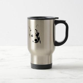 Caneca Térmica Esboço preto e branco da tinta do cão do Corgi