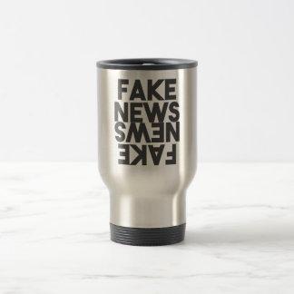 Caneca Térmica Espelho falsificado da verdade do cargo da notícia