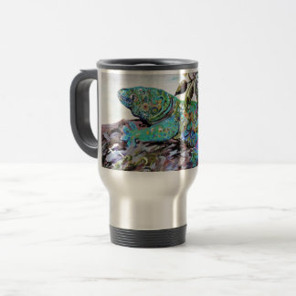 Caneca Térmica Estilo do art deco do lagarto de Nova Caledônia