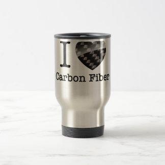 Caneca Térmica Eu amo a fibra do carbono