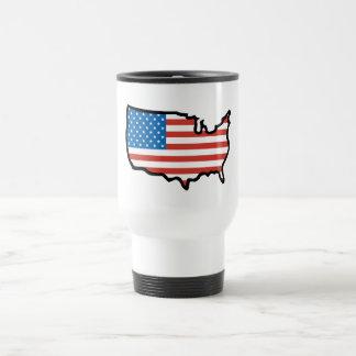 Caneca Térmica Eu amo bandeira de América - os Estados Unidos
