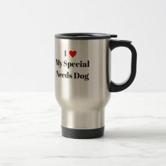 Caneca Térmica Eu amo meu cão especial das necessidades