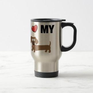 Caneca Térmica Eu amo meu dachshund
