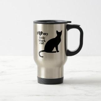 Caneca Térmica Eu amo meu gato preto pequeno