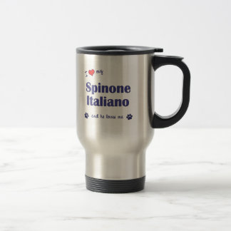Caneca Térmica Eu amo meu Spinone Italiano (o cão masculino)