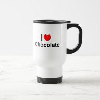 Caneca Térmica Eu amo o chocolate do coração