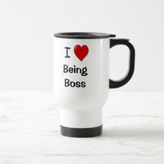 Caneca Térmica Eu amo ser citações inspiradores do chefe do chefe