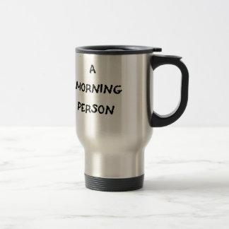 Caneca Térmica eu não sou uma pessoa da manhã