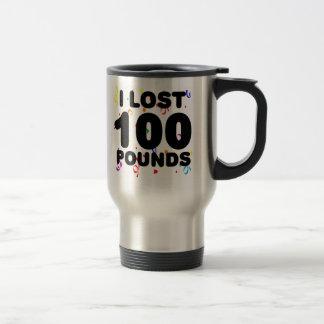 Caneca Térmica Eu perdi 100 libras de partido