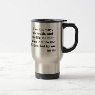 Caneca Térmica Eu sou a maneira, a verdade, e a vida. 14:6 de