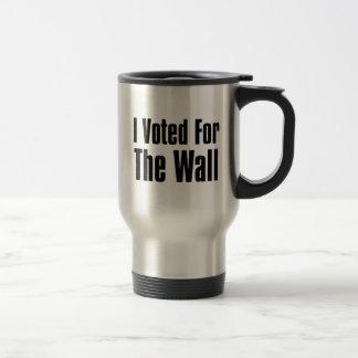 Caneca Térmica Eu votei para a parede