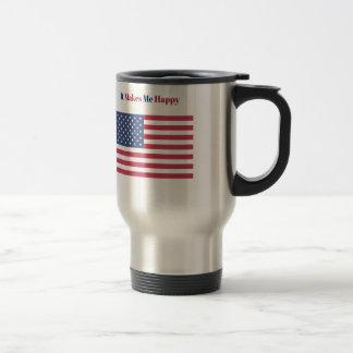 Caneca Térmica Faz-me a bandeira americana feliz