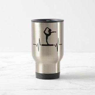 Caneca Térmica Feixe de equilíbrio do Gymnast - gráfico do pulso