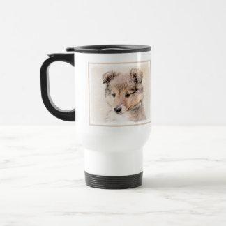 Caneca Térmica Filhote de cachorro do Sheepdog de Shetland