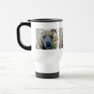 Caneca Térmica Filhote de cachorro rajado do pitbull por Shirley