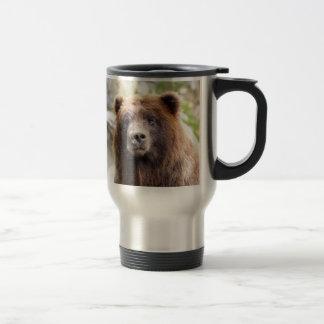 Caneca Térmica Fim do retrato do urso de urso acima