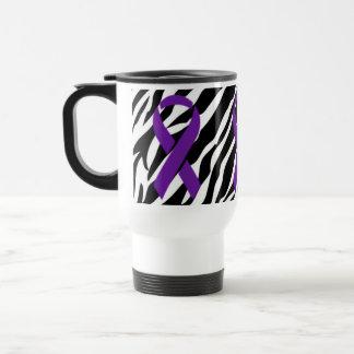 Caneca Térmica Fita da zebra w/Purple