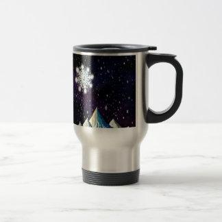 Caneca Térmica Flocos de neve GRANDES de w do céu estrelado