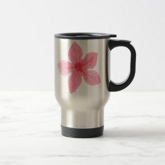 Caneca Térmica flor cor-de-rosa da aguarela