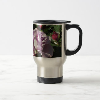 Caneca Térmica Flor cor-de-rosa da única violeta com rosas