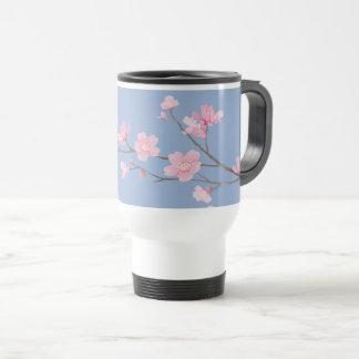 Caneca Térmica Flor de cerejeira - azul da serenidade