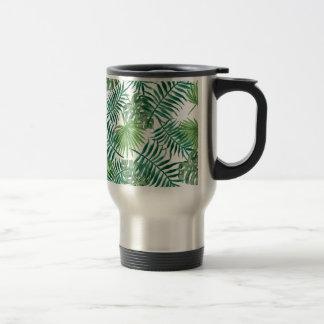 Caneca Térmica Folha de palmeira botânica tropical da planta