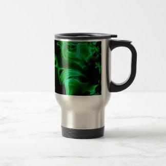 Caneca Térmica Fractal verde do cetim