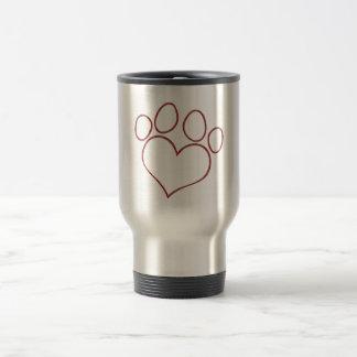 Caneca Térmica Gatinho dado forma coração do filhote de cachorro