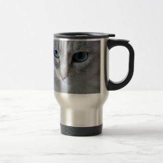 Caneca Térmica Gato de Kisa dos olhos azuis