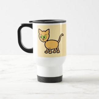 Caneca Térmica Gato do gengibre com olhos verdes
