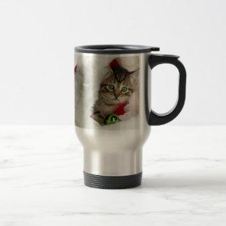 Caneca Térmica Gato do Natal - gato do gatinho - gatos bonitos