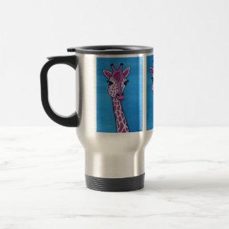 Caneca Térmica Girafa Glam abstrato cor-de-rosa
