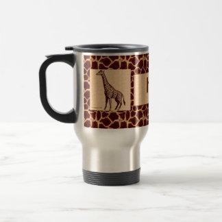 Caneca Térmica Girafa masculino e selvagem com nome