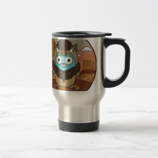 Caneca Térmica Gopher do búfalo no deserto