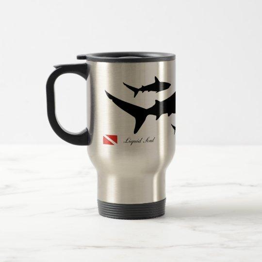 Caneca Térmica Grey Reef Shark - Travel Mug