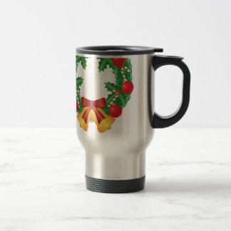 Caneca Térmica Grinalda do Natal com ornamento Bels e doces