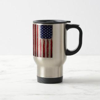 Caneca Térmica Grunge da bandeira dos EUA