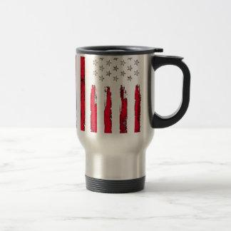 Caneca Térmica Grunge vermelho novo da bandeira americana
