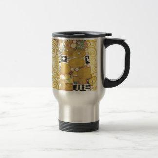 Caneca Térmica Gustavo Klimt - o abraço - trabalhos de arte