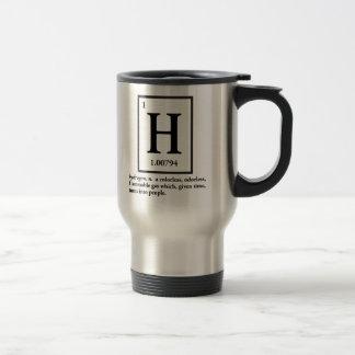 Caneca Térmica hidrogênio - um gás que transforme em pessoas