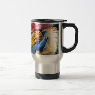 Caneca Térmica Hornbill vermelho e amarelo
