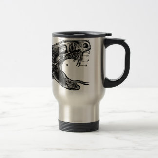 Caneca Térmica ilustração do vintage do cobra da víbora