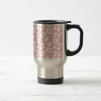 Caneca Térmica Impressão cor-de-rosa do leopardo da chita