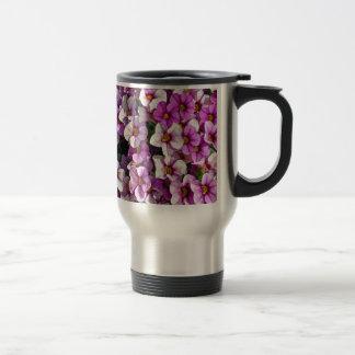 Caneca Térmica Impressão floral bonito dos petúnias cor-de-rosa e